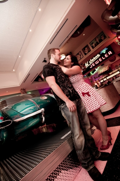 Chandra & Andy Engagement - Corvette Diner