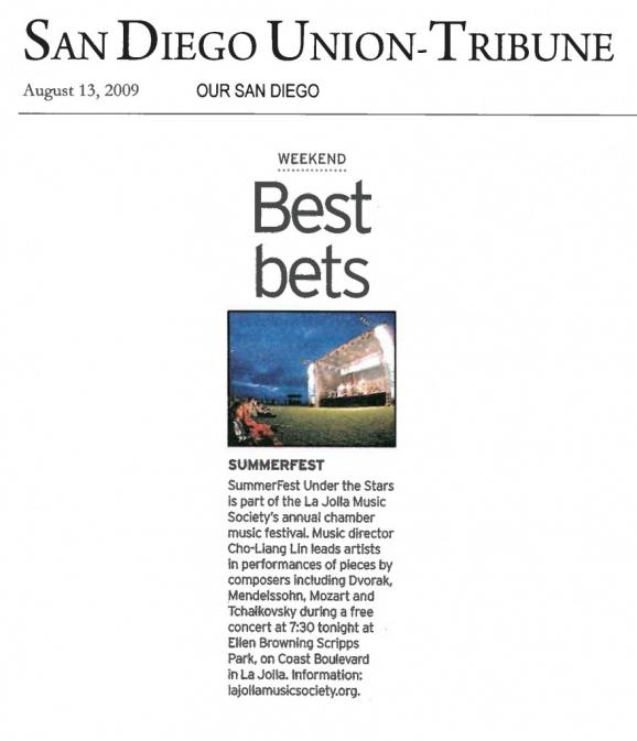 SummerFest Under the Stars - San Diego Union Tribune