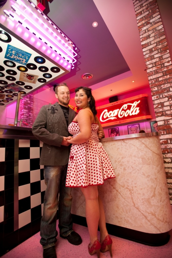 Chandra & Andy Engagement - Corvette Diner