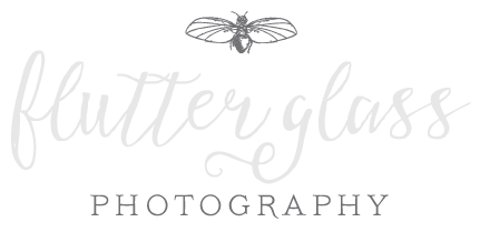 flutter glass PHOTOGRAPHY logo
