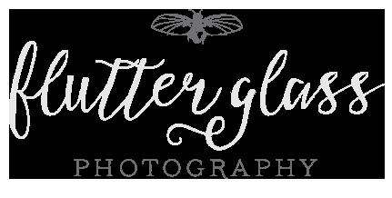 flutter glass PHOTOGRAPHY logo